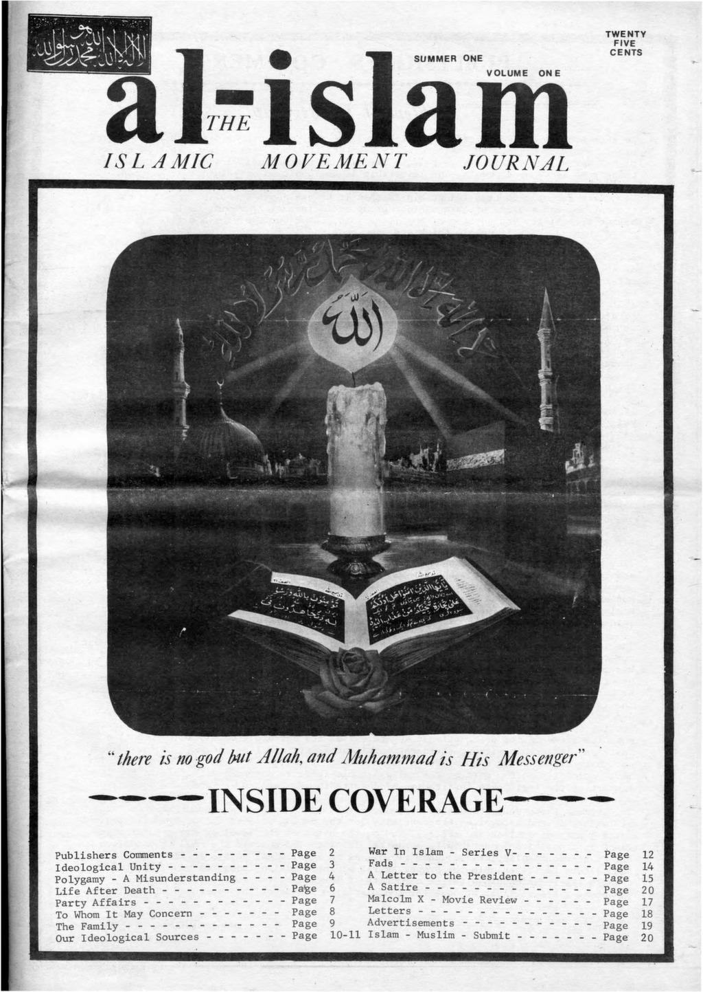Al Islam 1972 Vol 1 Summer 1 After Malcolm