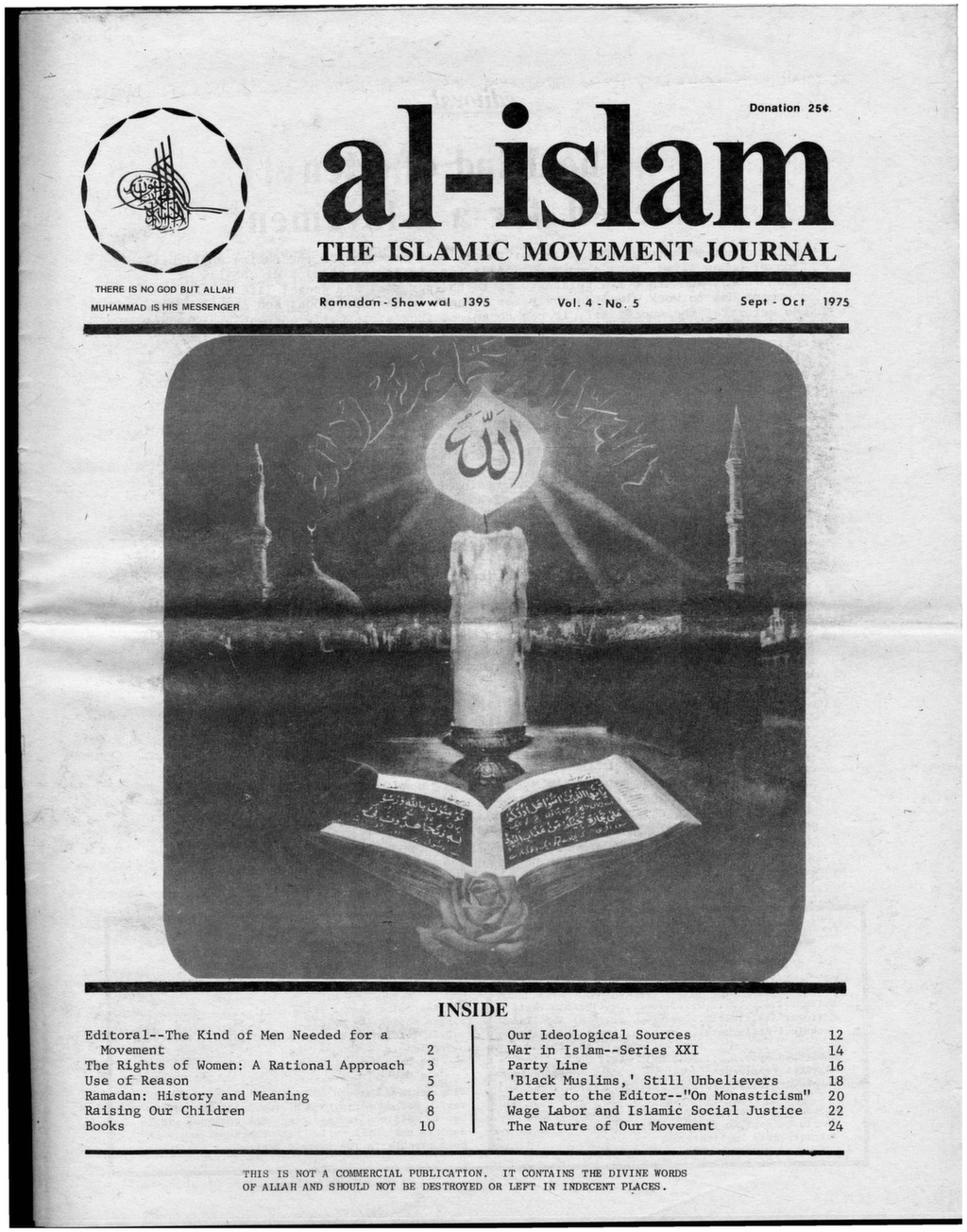 Al-Islam, 1975, Vol  4, No  5 (Sept-Oct) - After Malcolm